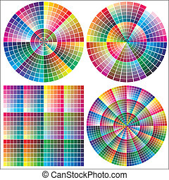 Set of vector color charts