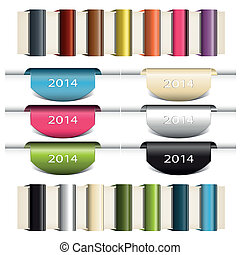 Set of vector color ribbons