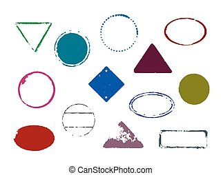 set of vector color stamps