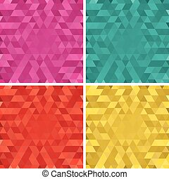 Set of vector colorful Abstract tri
