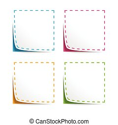 Set of Vector Coupons with cut lines