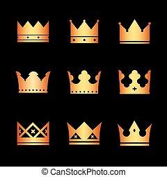 Set of vector crowns