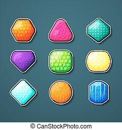 Set of vector crystals