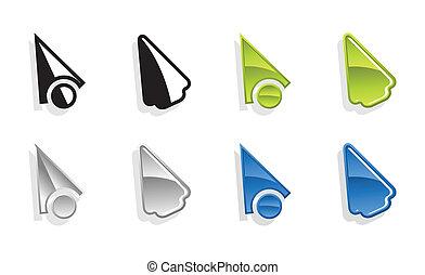Set of vector cursors