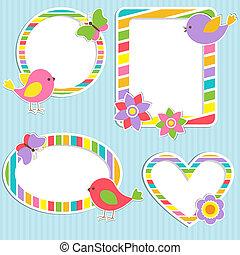 Set of vector cute frames