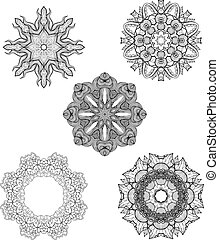 Set of vector decorative round ornaments for Your design
