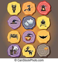 Set of vector Design elements for halloween.