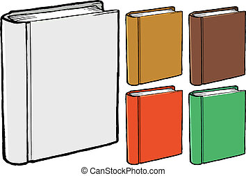 Set of vector, different colours, book covers