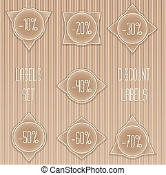 Set of vector discount labels.