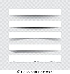 Set of vector dividers isolated on transparent background
