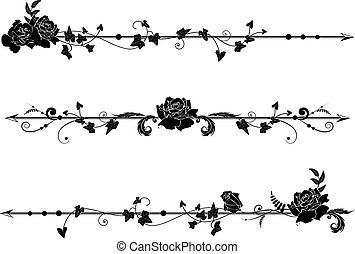dividers with roses and ivy