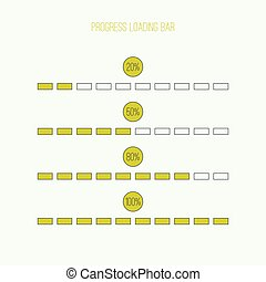 Linear loader bar