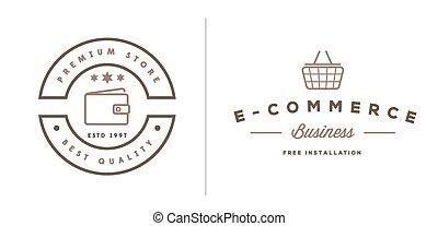 Set of Vector E-Commerce Shopping