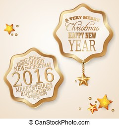 Set of vector elements for Christmas