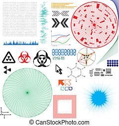 Set of vector elements for electronics design