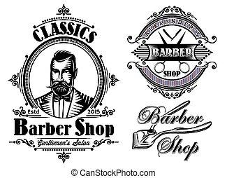 set of vector emblems on a theme ba
