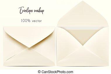 Set of vector envelope mock up for design