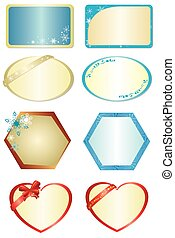 set of vector figures with ornament