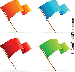 Set of vector flags. Icons