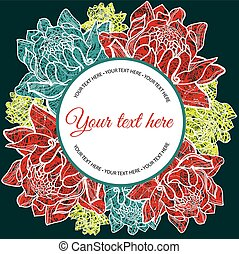 vector floral Save the Date