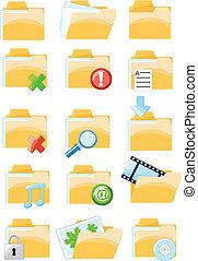 Set of vector folder icons