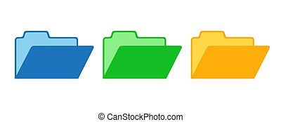 Set of vector Folders.