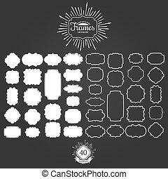 Set of vector frames for vintage logos.