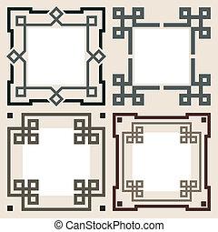 Set of vector frames