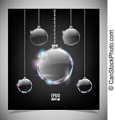 Vector glass Christmas balls