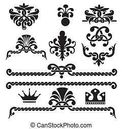 Set of vector gothic design elements