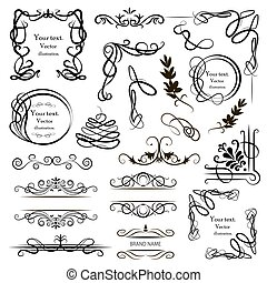 Set of vector graphic elements for design