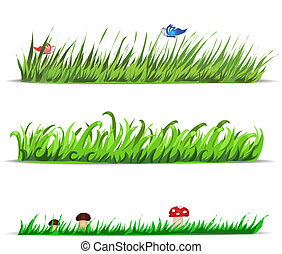 Set of vector grass