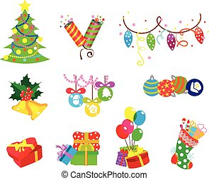 Set of vector holiday icons