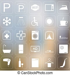 Set of Vector hotel icons