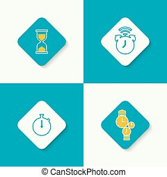 set of vector icons.