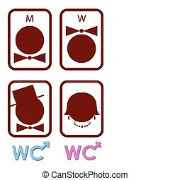 Set of vector icons for WC