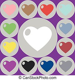 vector icons of heart
