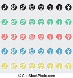 Set of vector icons telephony