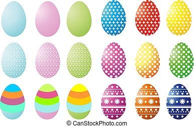 Set of vector ilustration colorful easter egg