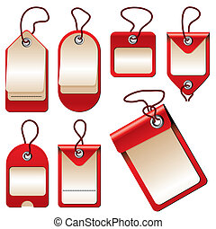 labels - set of vector images of labels and price tags