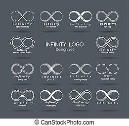 Set of vector infinity logo design