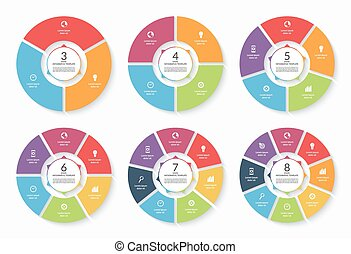 Set of vector infographic circle templates