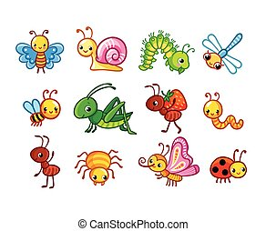 Set of vector insects.