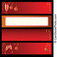Set of vector labels for New Year