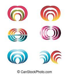 Set of vector logo design elements