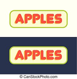 Logos for Market with Fruits and Grocer Store - Set of...