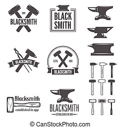 Set of vector logotypes elements, labels, badges and...