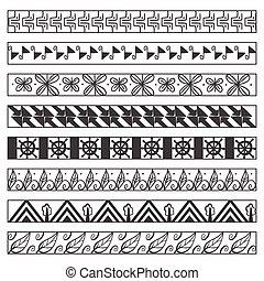 Set of vector ornamental borders