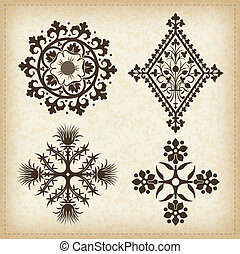 Set of vector ornaments.