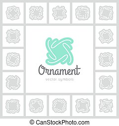 vector ornate symbols - set of vector ornate symbols and...
